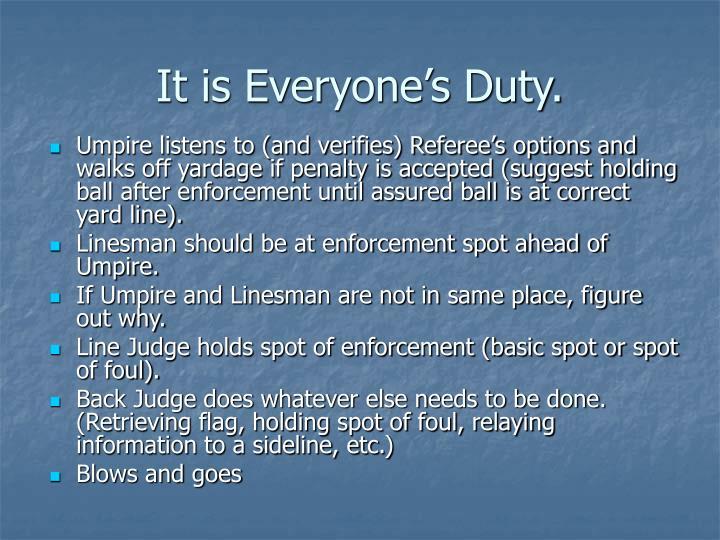 It is everyone s duty1