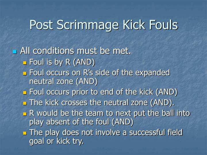 Post Scrimmage Kick Fouls