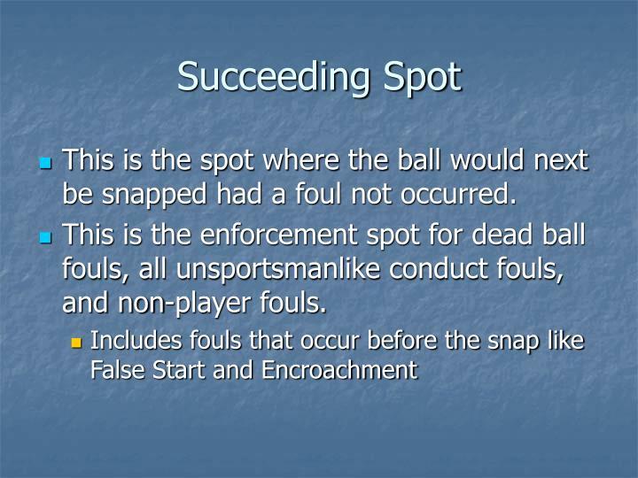 Succeeding Spot