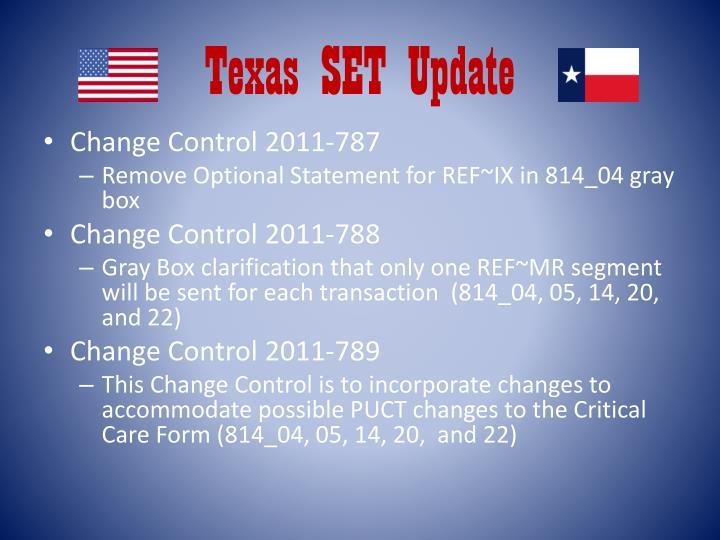 texas set update n.