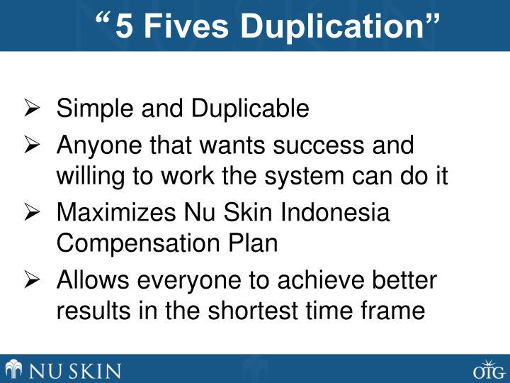 5 fives duplication