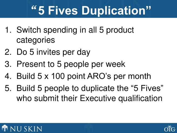 5 fives duplication1