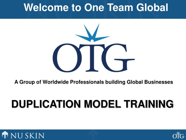 Welcome to One Team Global