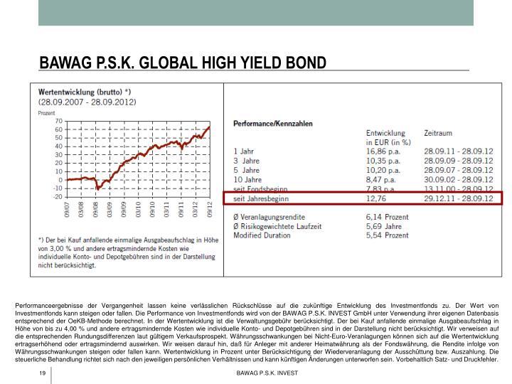 BAWAG P.S.K. GLOBAL HIGH YIELD BOND
