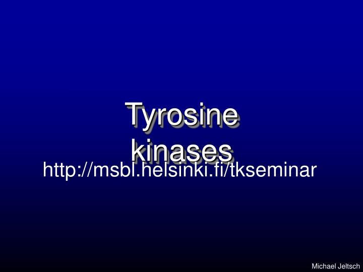 tyrosine kinases n.