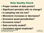 data quality check