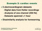 example 2 cardiac events