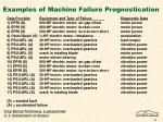 examples of machine failure prognostication
