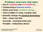 problem overview and aims