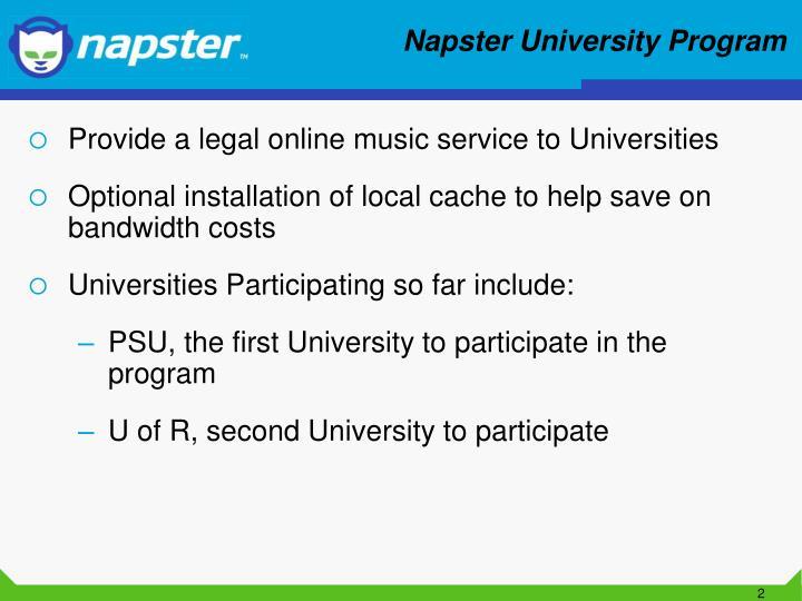 Napster university program