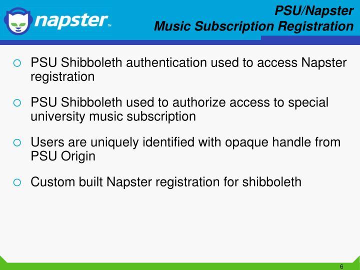 PSU/Napster