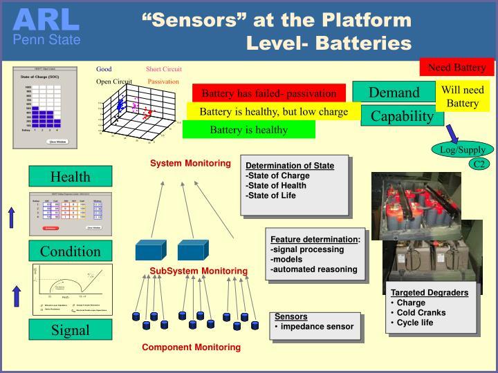 """Sensors"" at the Platform Level- Batteries"