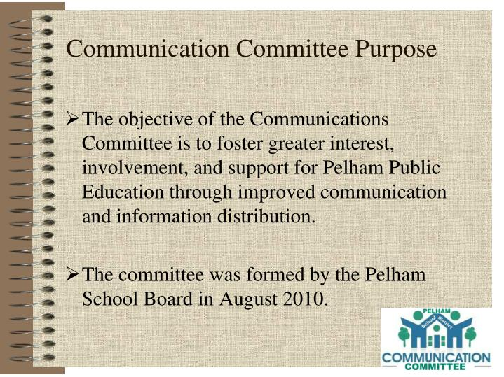 Communication committee purpose