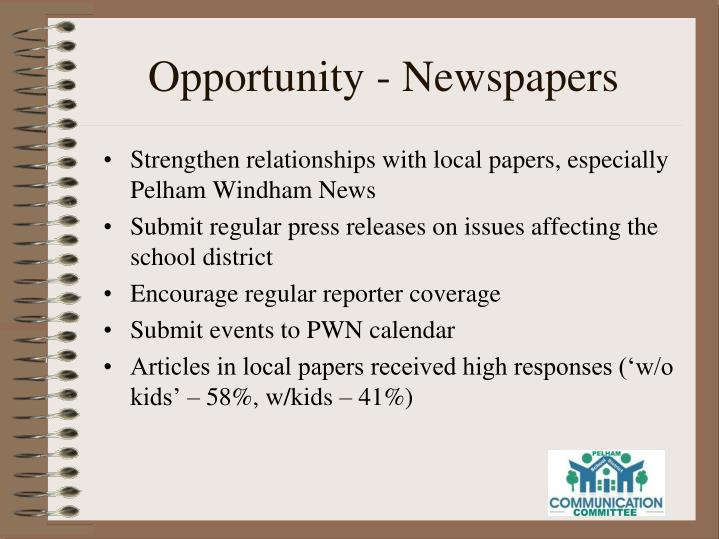 Opportunity - Newspapers