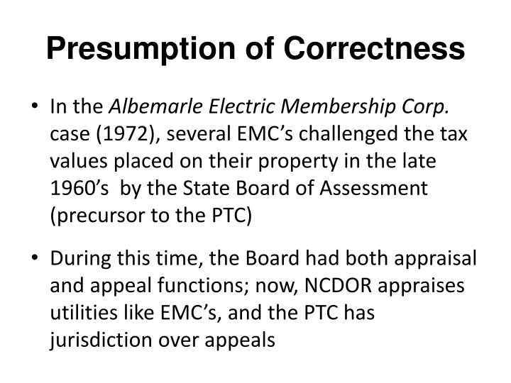 Presumption of Correctness