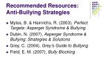recommended resources anti bullying strategies