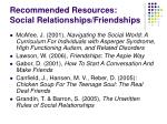 recommended resources social relationships friendships1