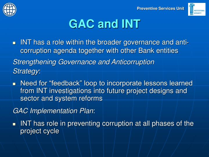 GAC and INT