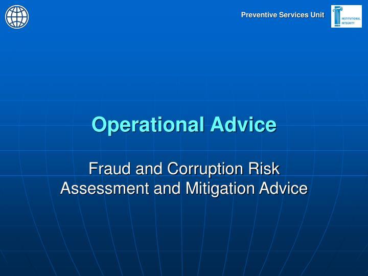 Operational Advice