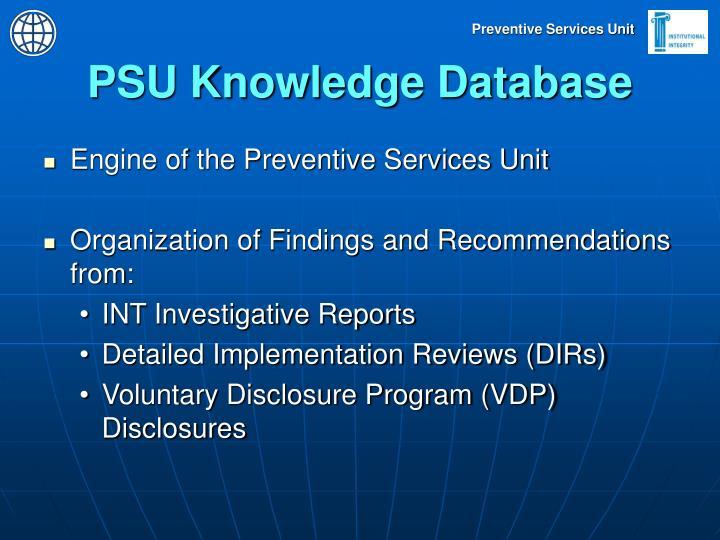 PSU Knowledge Database