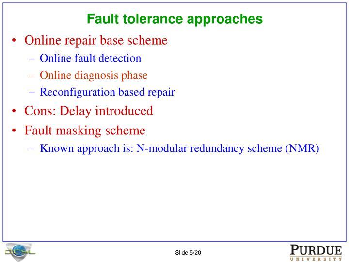 Fault tolerance approaches