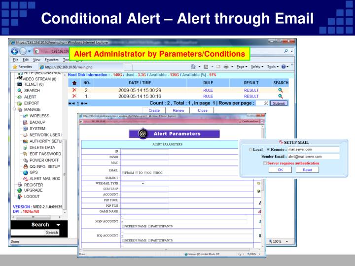Conditional Alert – Alert through Email