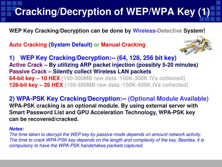 Cracking/Decryption of WEP/WPA Key (1)
