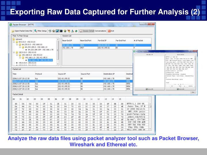 Exporting Raw Data Captured for Further Analysis (2)