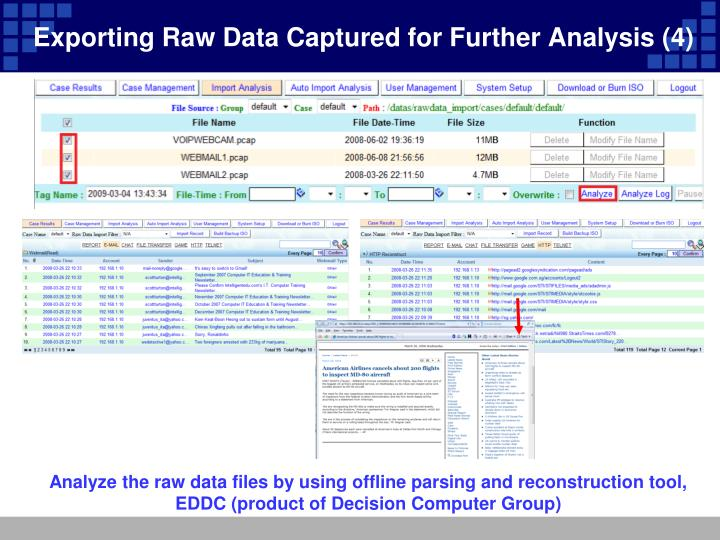 Exporting Raw Data Captured for Further Analysis (4)