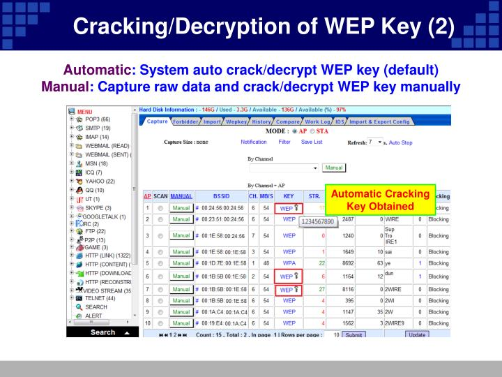 Cracking/Decryption of WEP Key (2)
