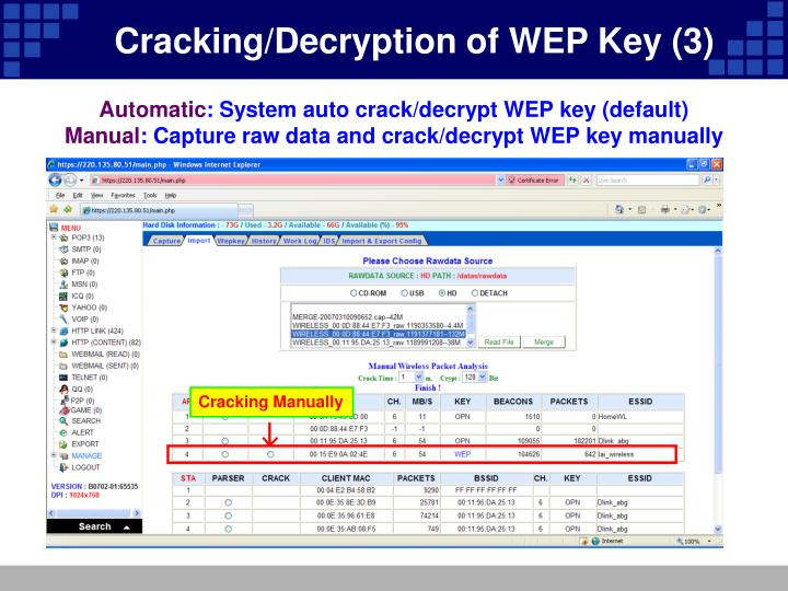 Cracking/Decryption of WEP Key (3)