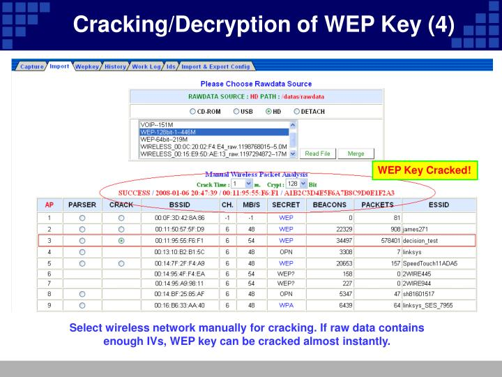 Cracking/Decryption of WEP Key (4)