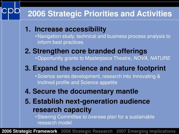 2006 Strategic Framework