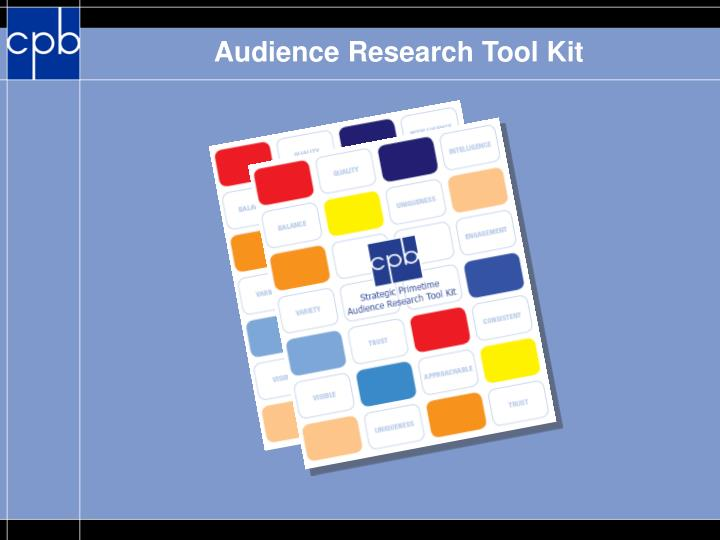 Audience Research Tool Kit