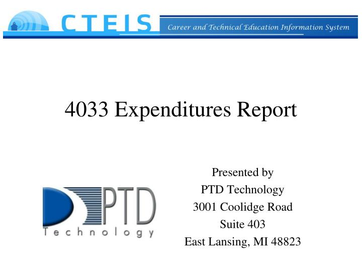4033 expenditures report n.