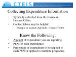 collecting expenditure information