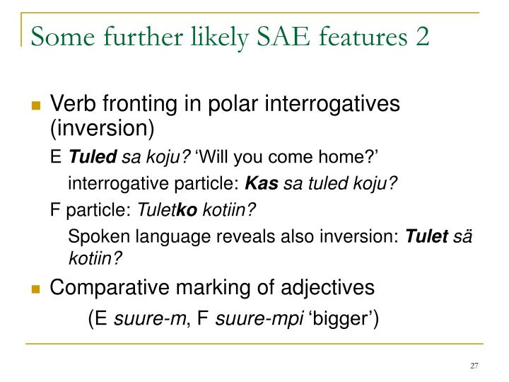 Some further likely SAE features 2