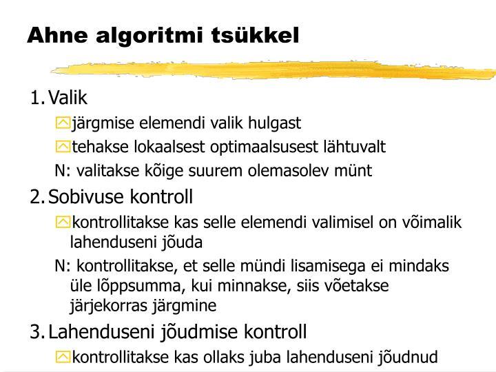Ahne algoritmi tsükkel
