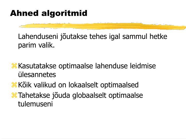 Ahned algoritmid