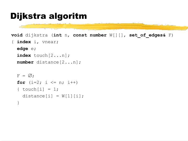 Dijkstra algoritm