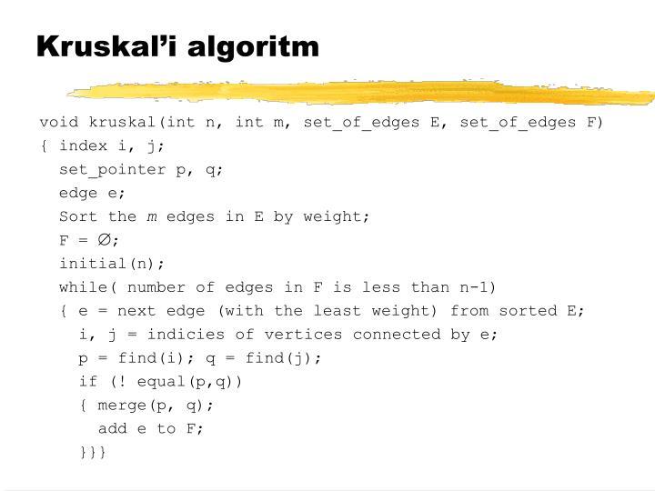 Kruskal'i algoritm