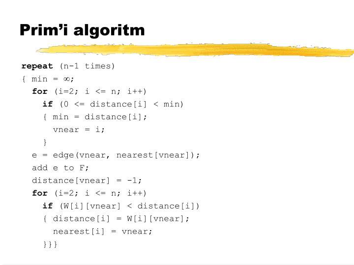 Prim'i algoritm