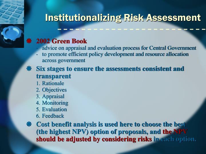 Institutionalizing Risk Assessment