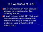 the weakness of leap