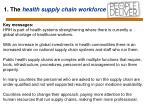 1 the health supply chain workforce