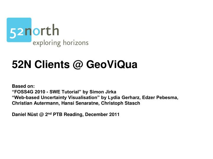 52N Clients @ GeoViQua