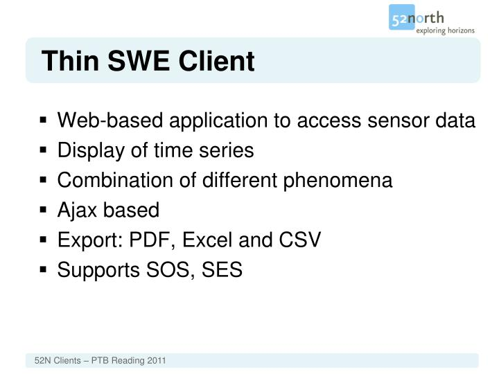 Thin SWE Client