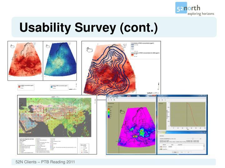Usability Survey (cont.)