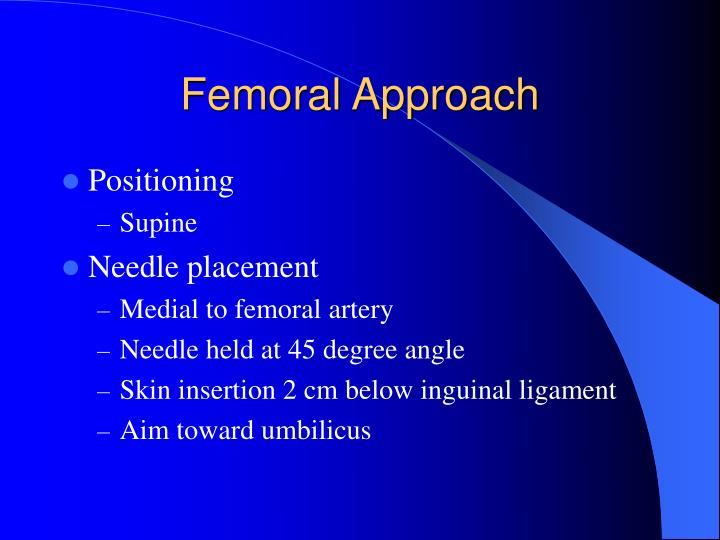Femoral Approach