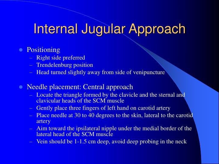 Internal Jugular Approach